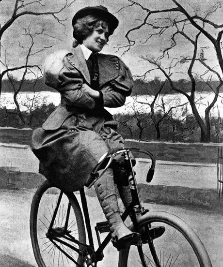 Women In Victorian Era Bicycle Freedom | The bicycle kick-started the American feminist movement. #refinery29 http://www.refinery29.com/women-victorian-era-society-bike-riding