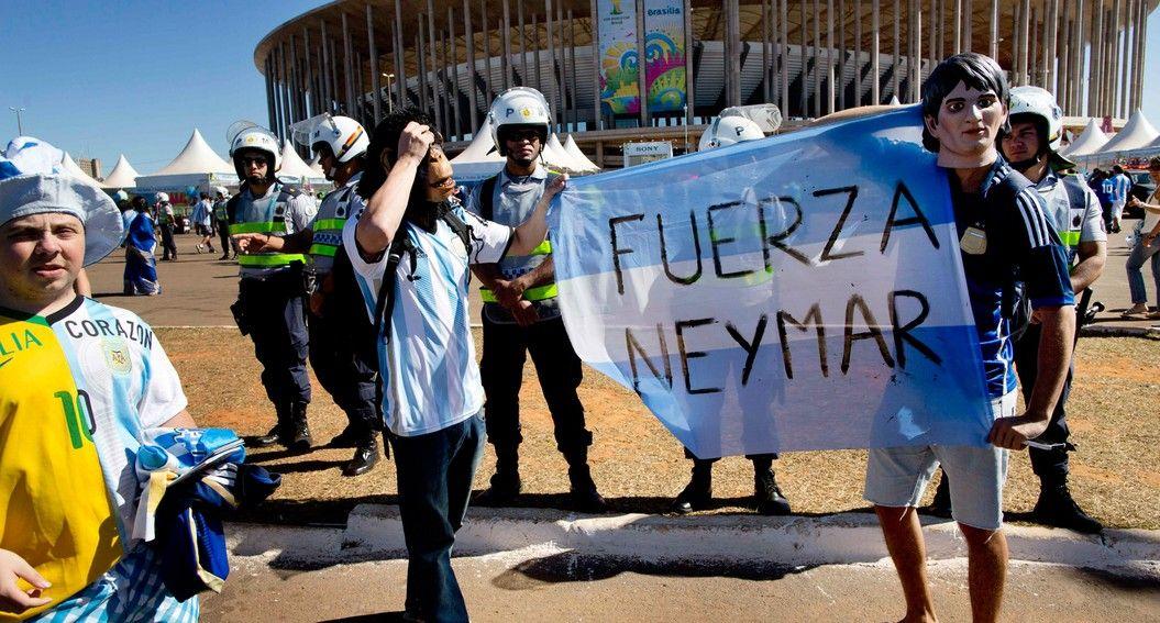 ao vivo: argentinos por Neymar (AP)