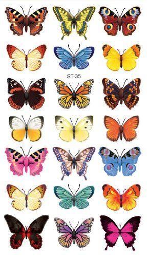 Photo of Supperb Temporary Tattoos – Butterflies (21 Butterflies)