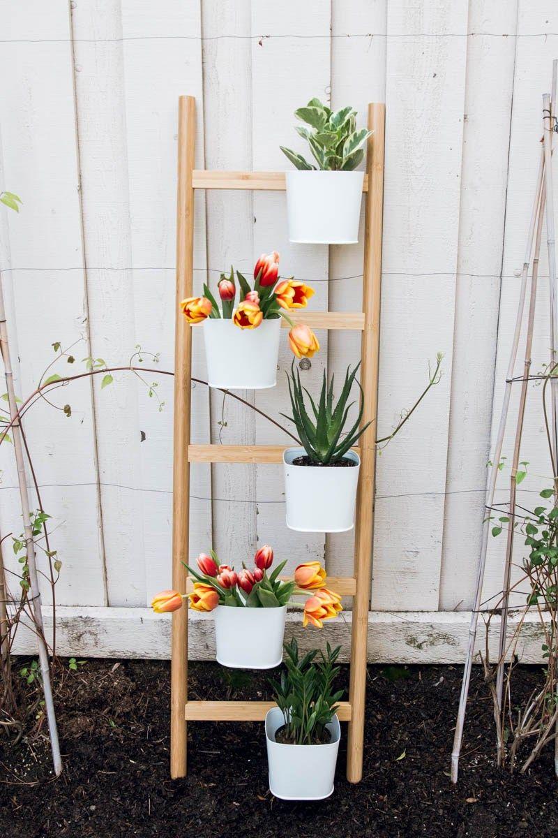 ikea satsuma ladder planter   Diy plant stand, Plant stand ...