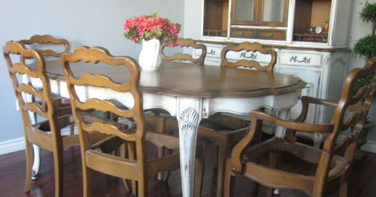 Sold Large Solid Pecan Wood French Provincial Dining Set High