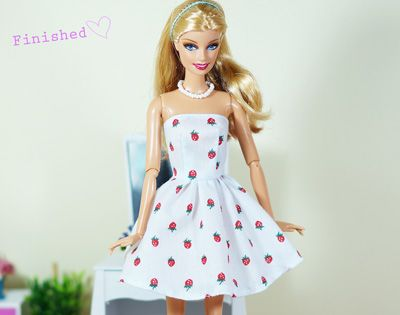How to Make a Simple Dress for Doll - Dollzdress | 1:6 Sewing ...