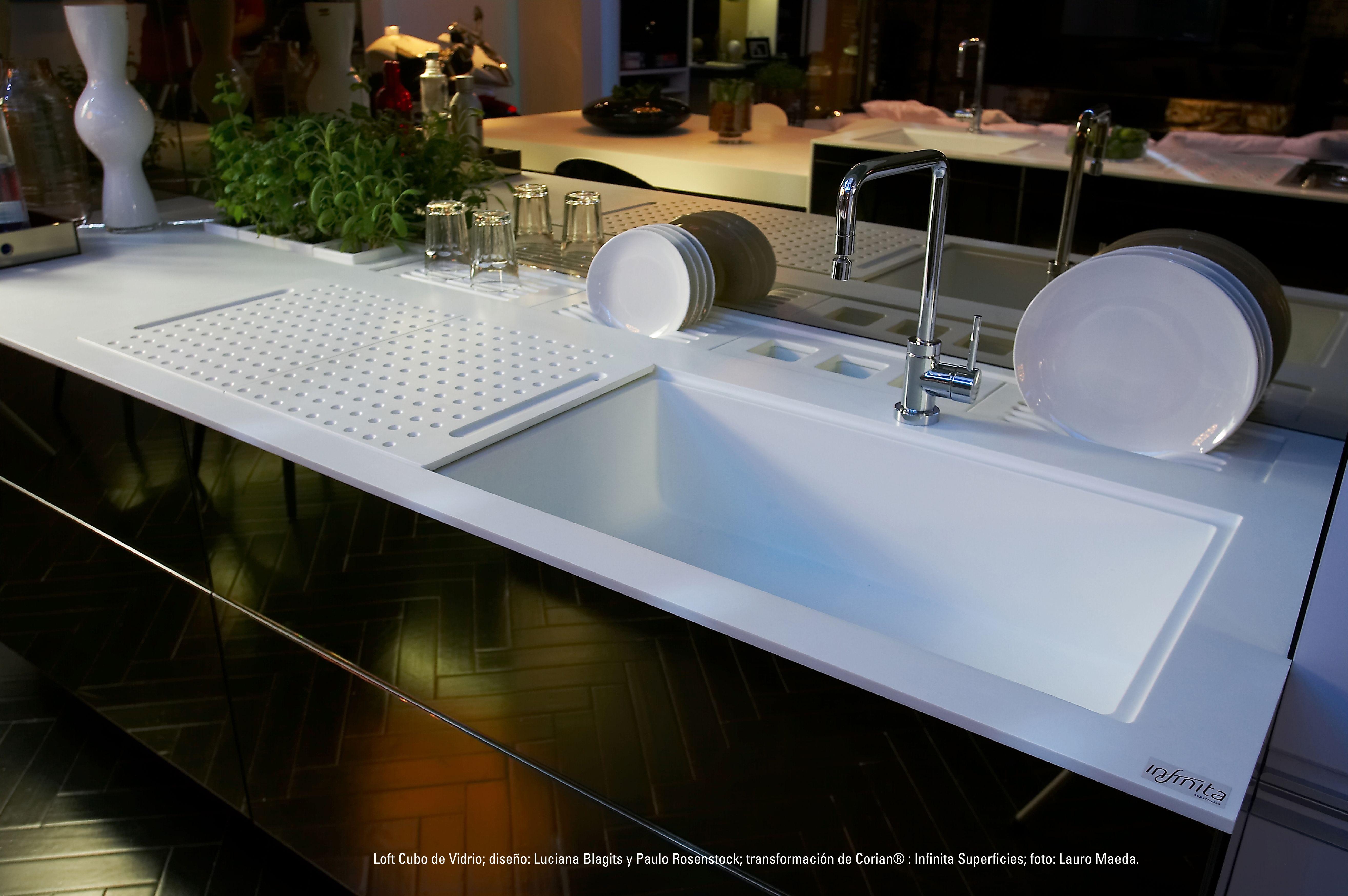 Encimera smart countertop de corian cocinas integrales m dul studio cubiertas para cocinas - Encimera corian ...