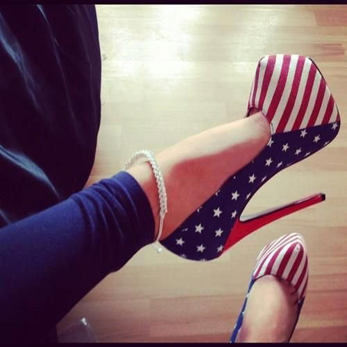 It's my patriot duty to wear these heels while standing next to my man in his combat boots.
