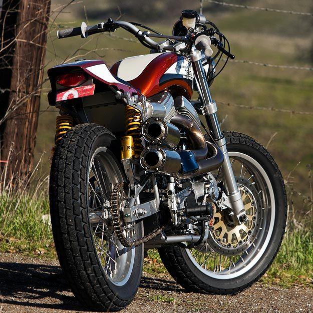 The Punisher A Harley Powered Street Tracker By Mule Tracker