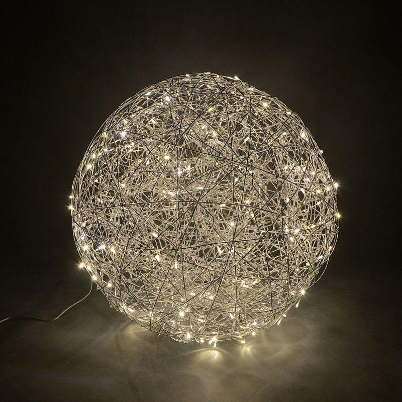 Floor Lamp Draht Sphere 80cm LED Aluminium