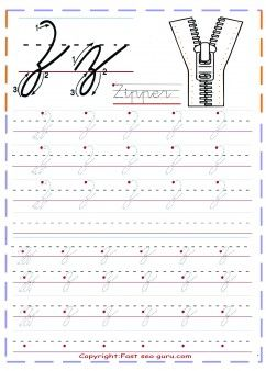 print out cursive handwriting tracing worksheets letter z for zipper teaching ideas cursive. Black Bedroom Furniture Sets. Home Design Ideas