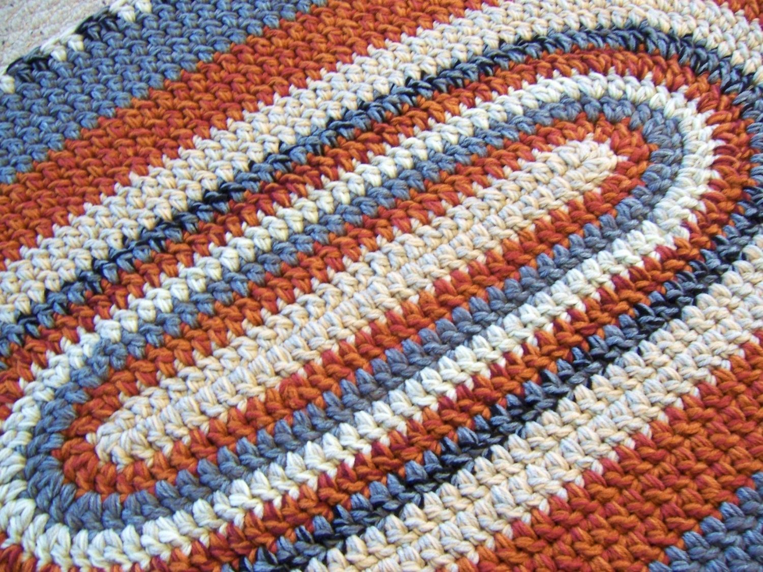Oval Crochet Rug Custom Made To Order 28 X 45 You Pick Your Colors ...