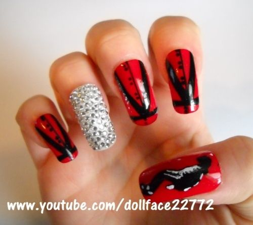 Michael Jackson Inspired By Dollface22772 Nail Art Gallery