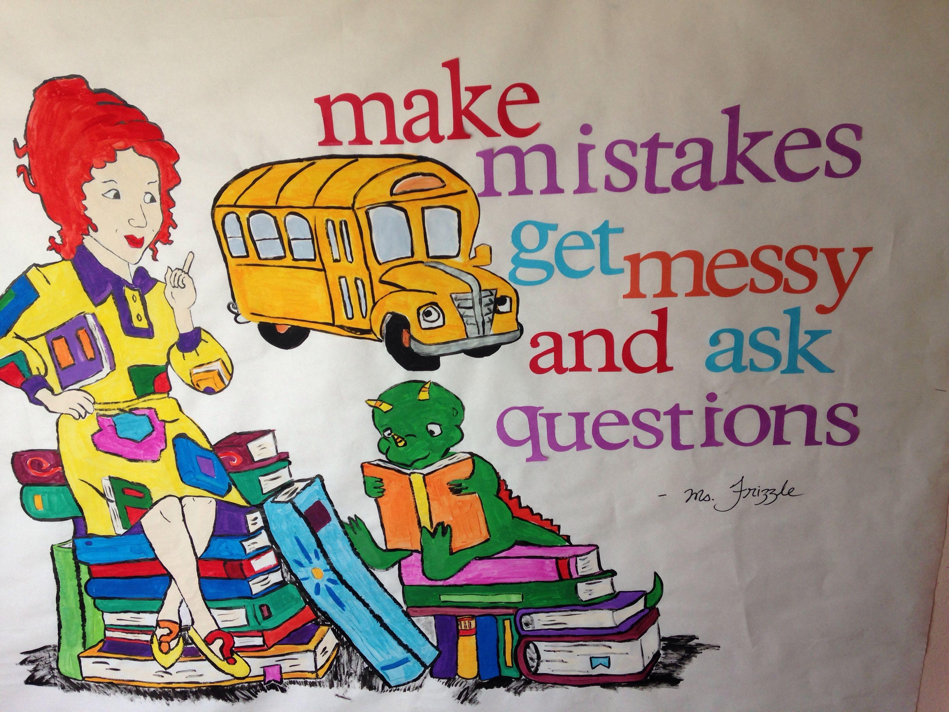 Magic School Bus Board Hand Painted