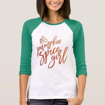 Pumpkin Spice Girls Ladies T-Shirt | Zazzle.com