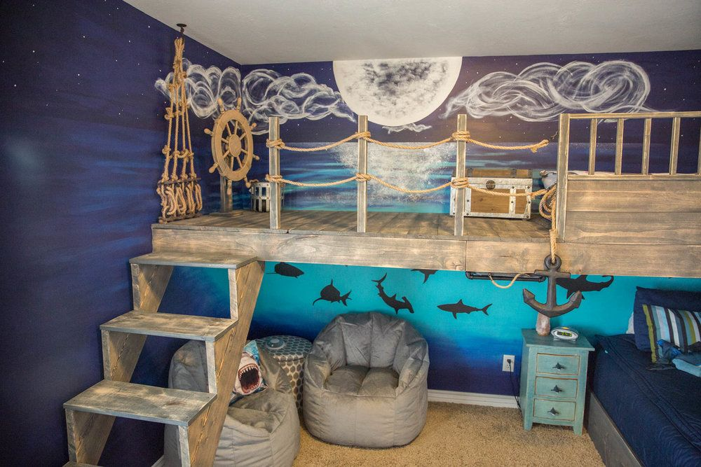 Pirate Ship Bedroom By Sage Pirate Kids Room Pirate Ship Bedroom Pirate Room Decor
