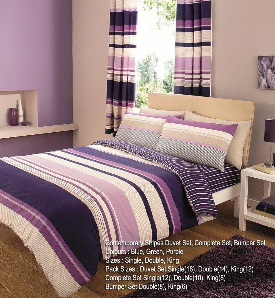 Modern Stripes Duvet Covers Quilt Covers Reversible