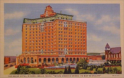 The Lobby When Hotel Was Open I Swam In Pool Rode Elevators With Br Doors Places Ve Lived Pinterest Mineral Wells Tx
