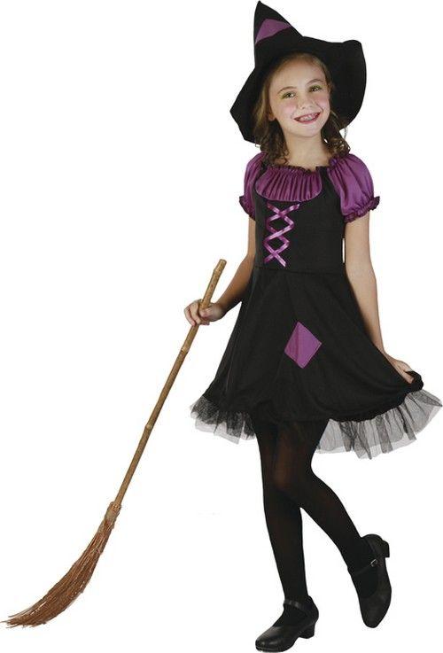 44588a64d81b Costume strega viola bambina | halloween | Costumi di halloween per ...