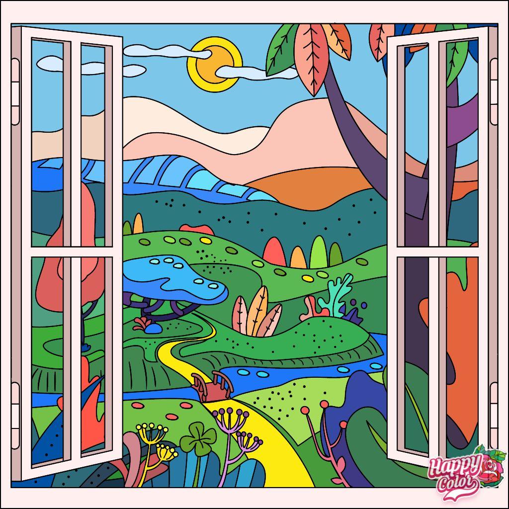 Happycoloringbook Colorful Colors Coloringbook Via Happy Color App For Ipad Happycolorapp Happy Colors Colorful Art Phone Art