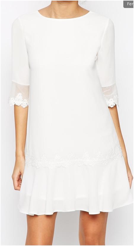 80ec901ffb5 mariages élégants chics robe de mariée courte simple dentelle Asos