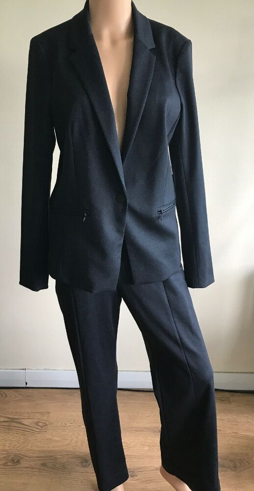 enjoy complimentary shipping forefront of the times purchase genuine Next Ladies Tailored Suit 14P Petite Navy Blue trousers ...
