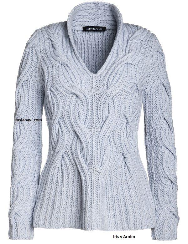 свитер английской резинкой спицами от Iris V Arnim Knitting