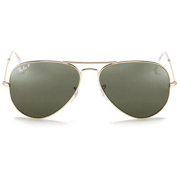 Ray Ban Polarized Classic Aviator Sunglasses 195 Liked On Polyvore Featuring Accessories Eyewear Sunglasses Gold Polarized Green Lens Aviator Sunglasse Mit Bildern