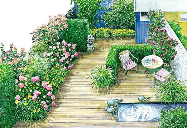 Ein Vorgarten wird zum Gartenzimmer | Schöne gärten, Vorher nachher ...