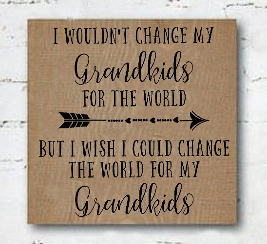 Grandparent Gift, Grandchildren quote, Farmhouse Sign, Wood Sign,Grandparents Day Gift,Grandparents sign, Gift for Grandma, Gift for Grandpa