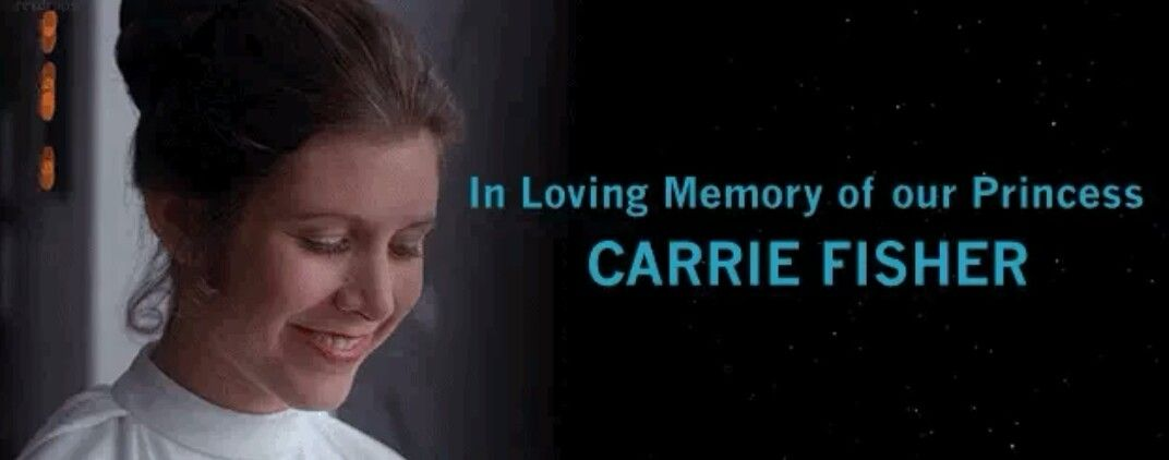 It S Been One Year Since We Lost Our Princess Rip Carrie Fisher