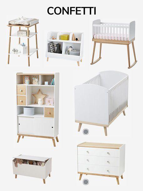 lit b b barreaux ligne confetti blanc en 2019. Black Bedroom Furniture Sets. Home Design Ideas