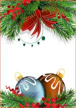 Image De Lettre De Noel.Papier A Lettre De Noel Fond Blanc Bordure Haut Sapin Et