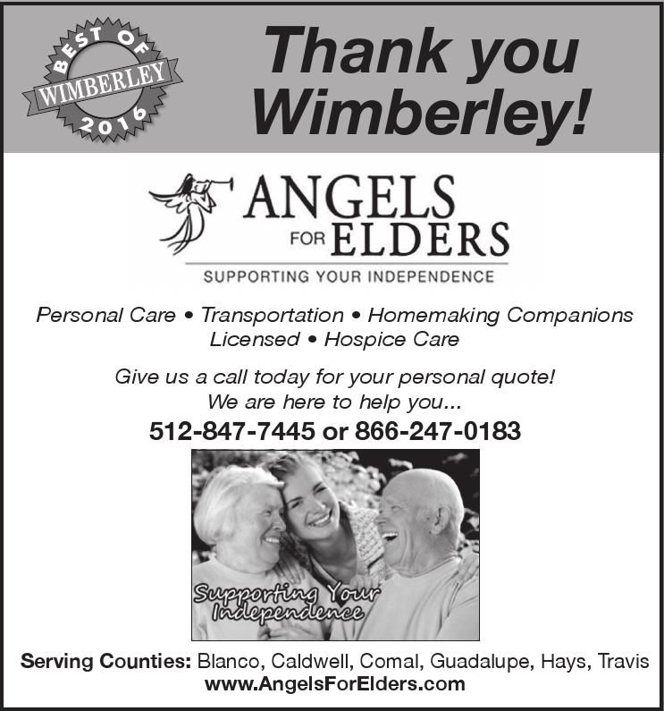 Thank you Wimberley! Personal Care • Transportation ...