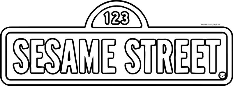 Big Logo Sesamestreet Sesame Street Coloring Page Sesame Street Coloring Pages Sesame Street Coloring Pages