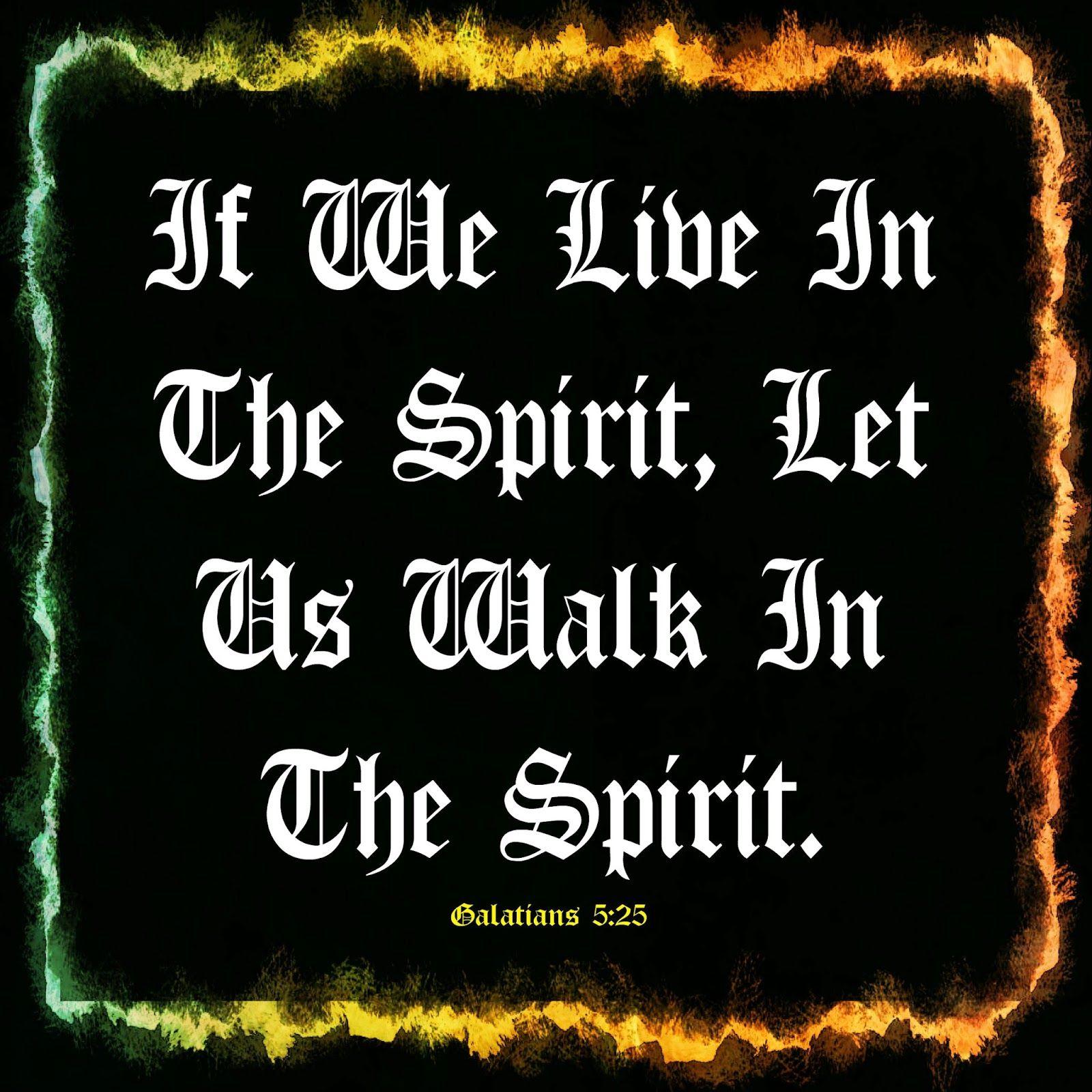 Mijn T-shirt-prints: Walk In The Spirit