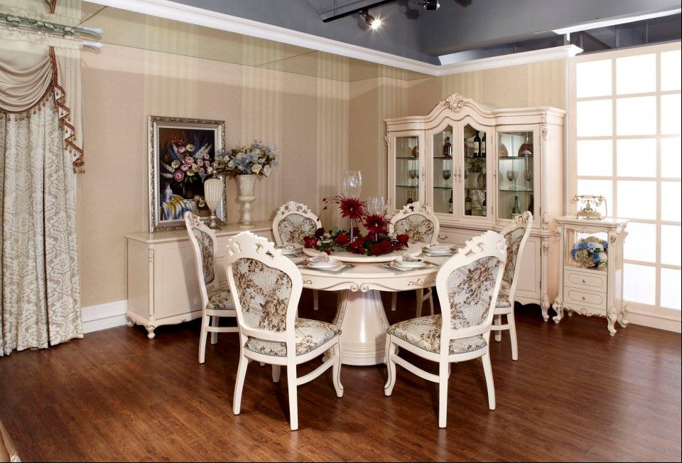 Round Dining Table Sets  Dining Room  Pinterest  Round Dining Simple White Dining Room Table Set Design Ideas