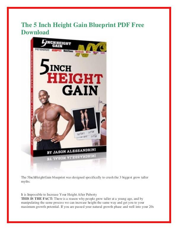 The 5 Inch Height Gain Blueprint PDF Free Download LIFE - fresh blueprint 3 free download