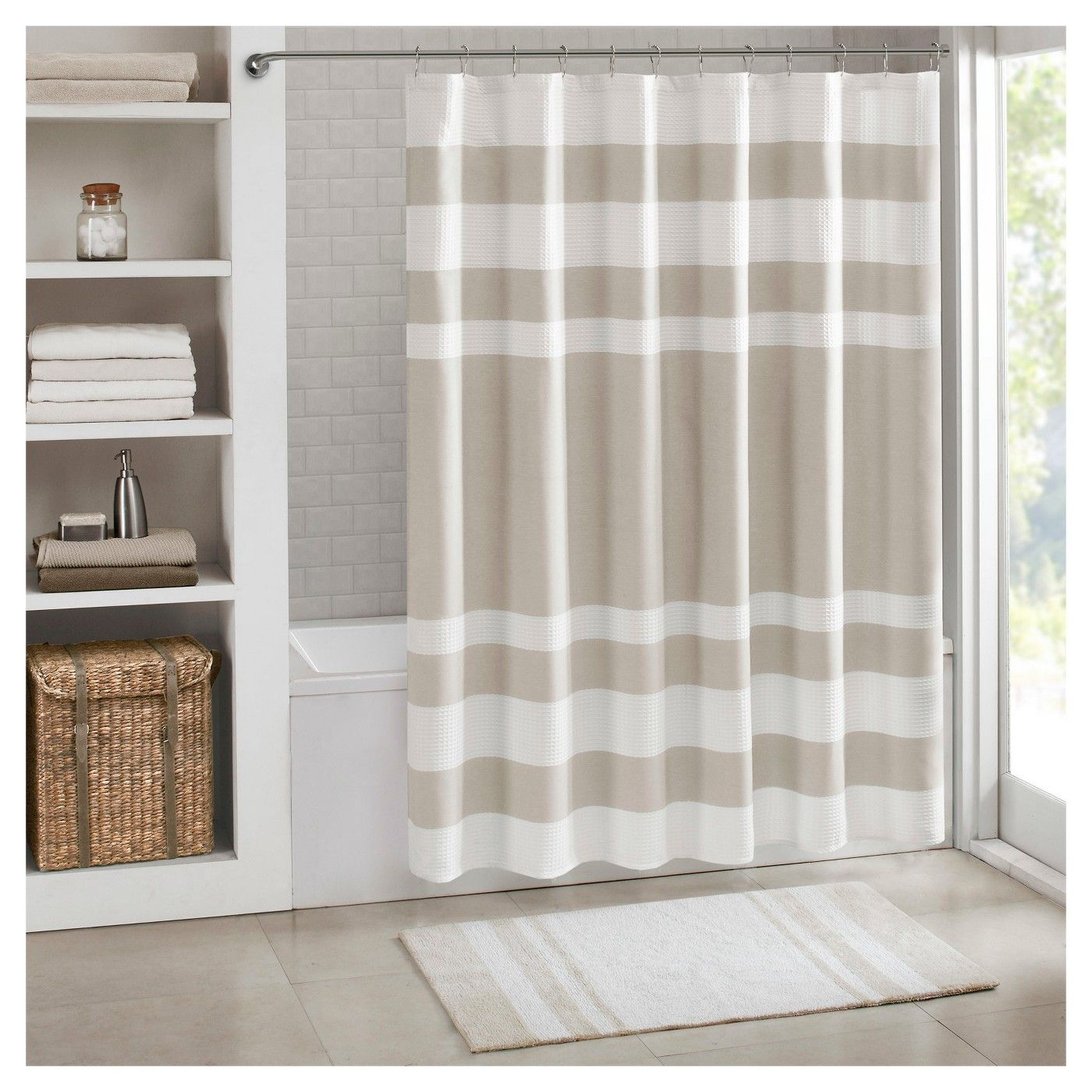 Spa Waffle Shower Curtains With 3m Treatments Spa Shower Curtain