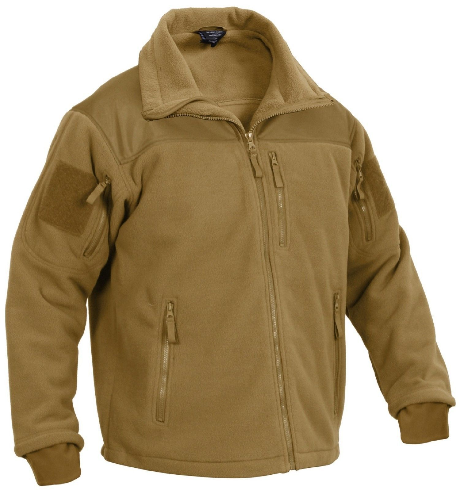 Special ops tactical fleece jacket rothco mens black or brown spec