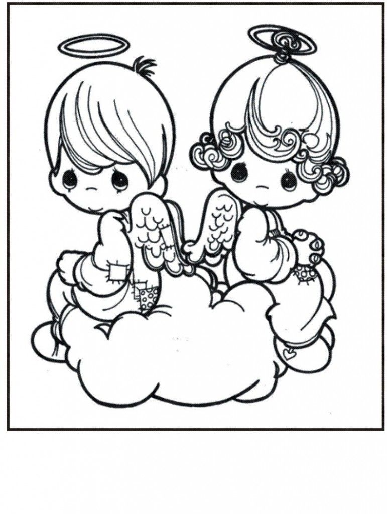 Free Printable Precious Moments Coloring Pages For Kids | Pinterest ...