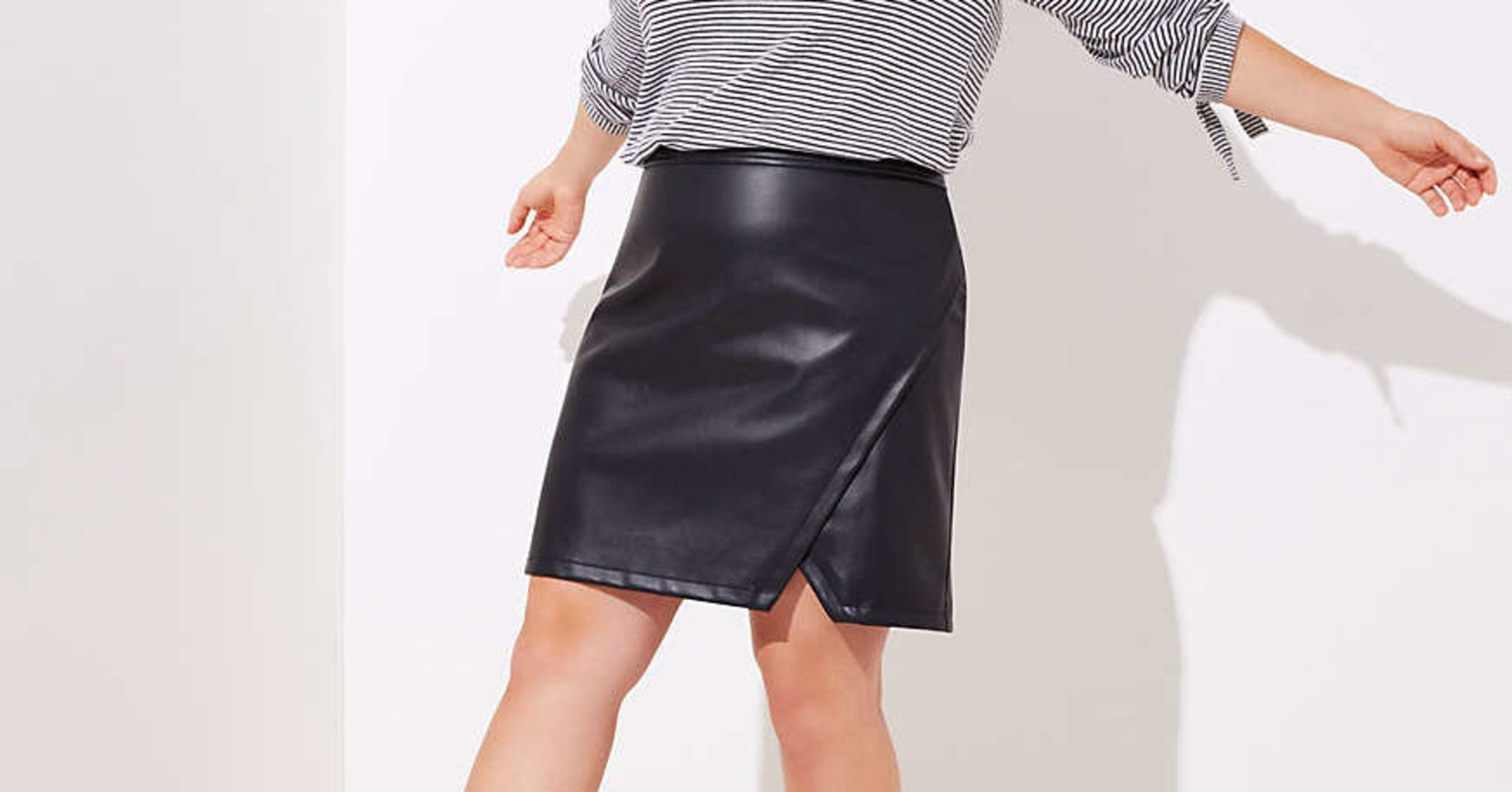 f59a1381524 11 Plus-Size Faux Leather Skirts That ll Fit Just Right