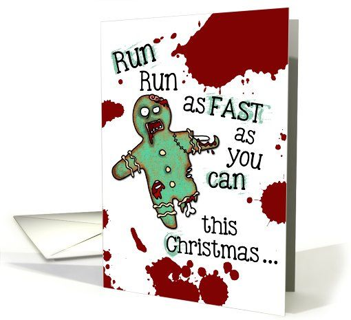 Undead Gingerbread Man Zombie Christmas Card With Images