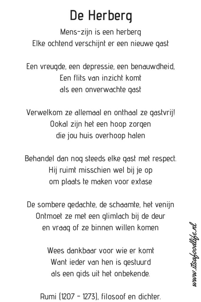 Inspiratie Gedicht De Herberg Gedichten Rumi Citaten En