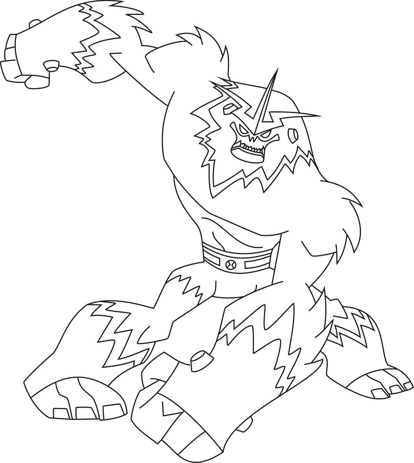 Ben 10 Coloring Page - Free Ben 10 Coloring Pages ... | 1600x1433