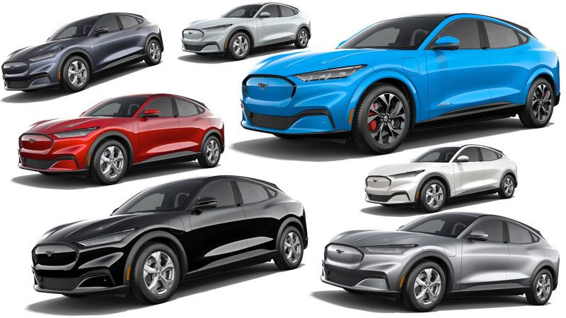 Here Are All The 2021 Ford Mustang Mach E Paint And Interior Colors Ford Mustang Ford Mustang