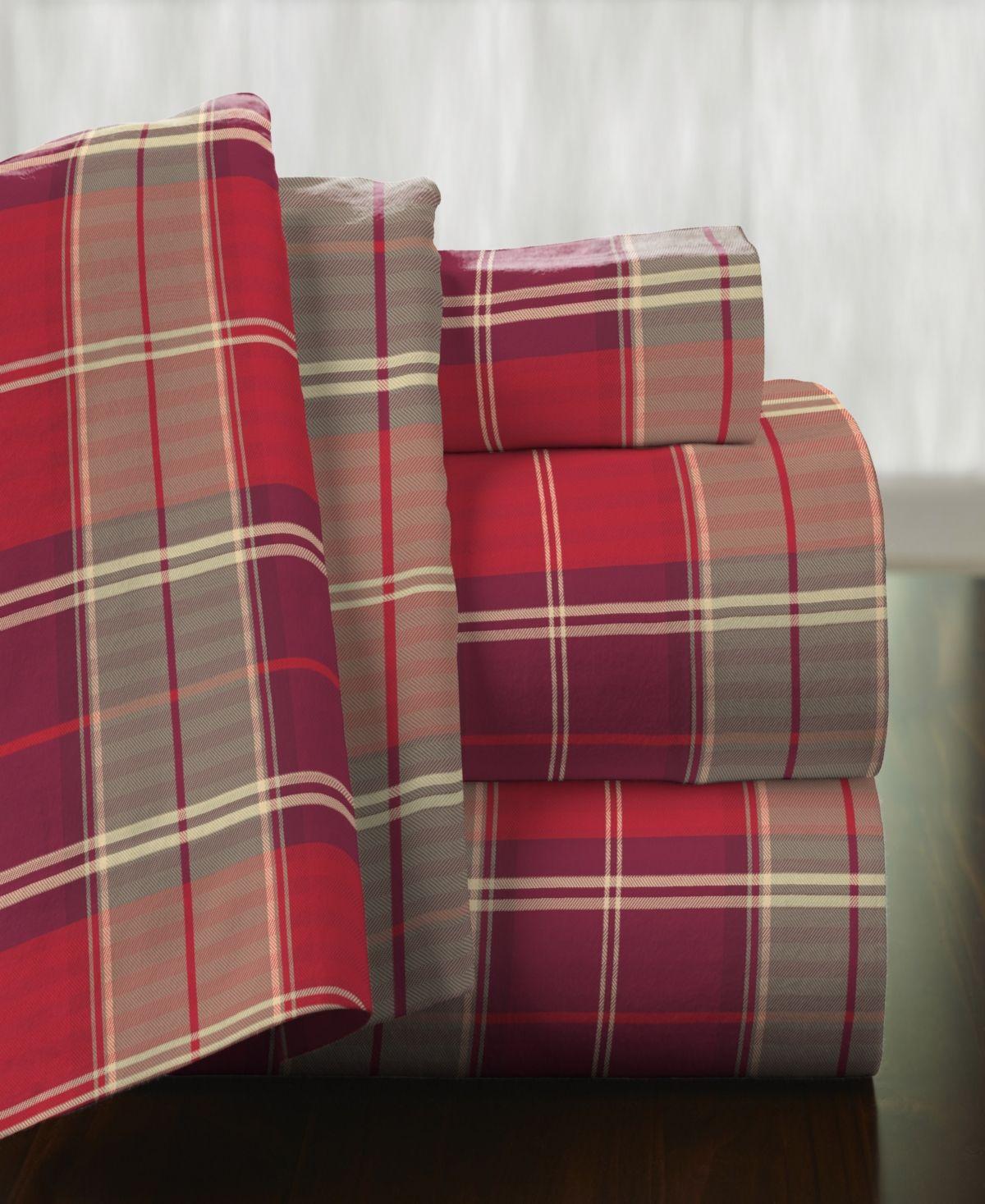 Pointehaven Superior Weight Cotton Flannel Sheet Set Pidmnt Pla Flannel Bed Sheets Plaid Sheets Duvet Cover Sets