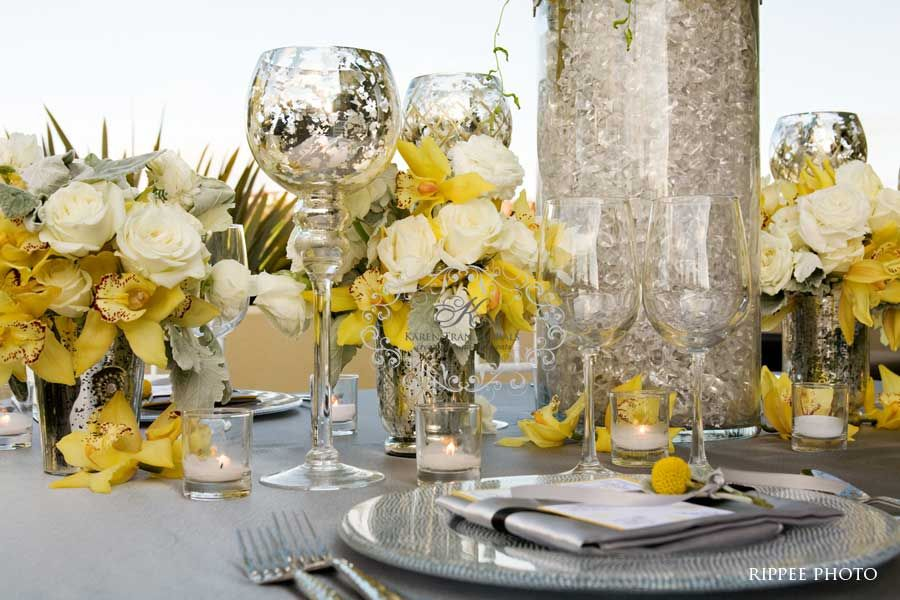 Yellowbluegrey Wedding Reception Ideas