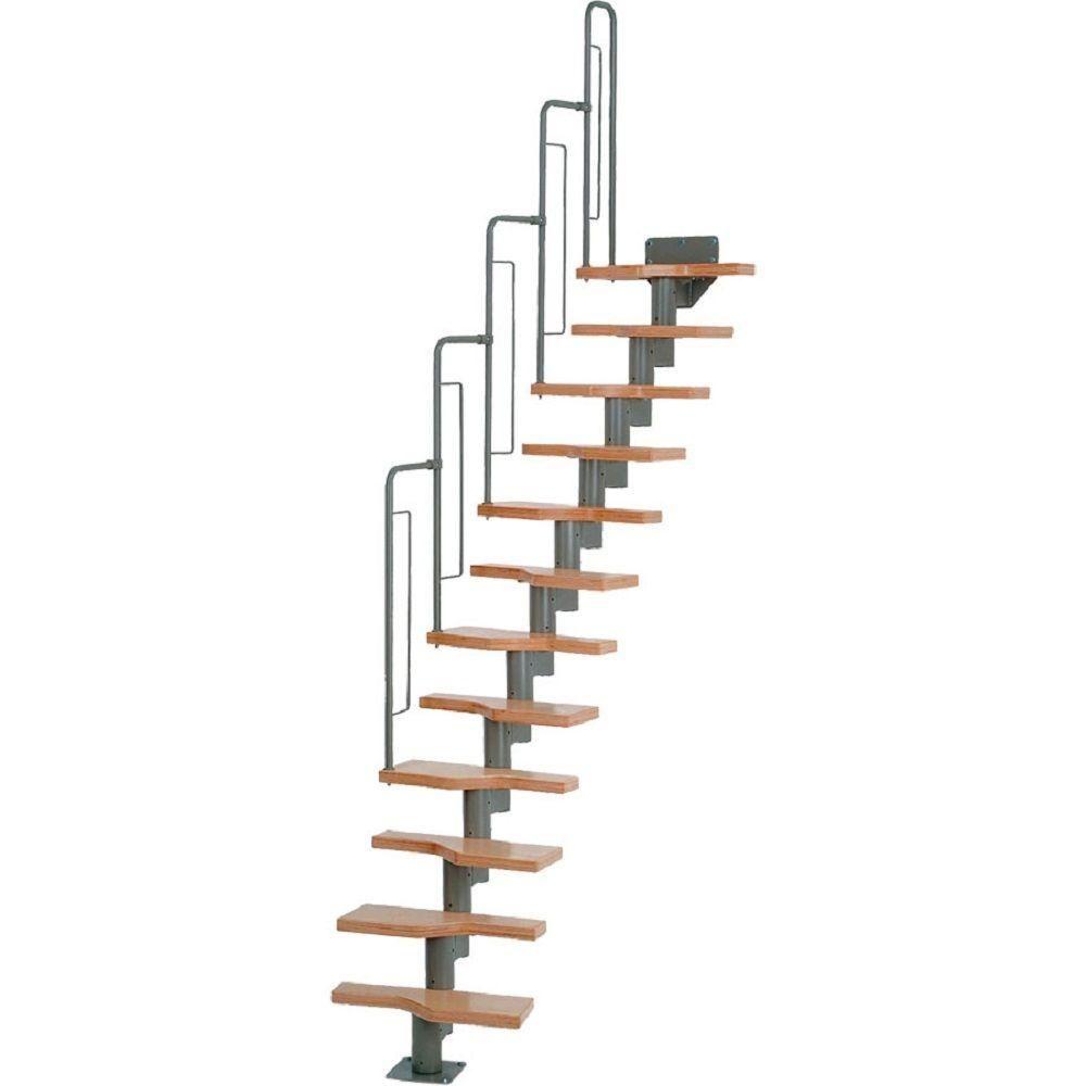 Best Dolle Graz 23 In Grey Modular 12 Tread Stair Kit 68540 640 x 480