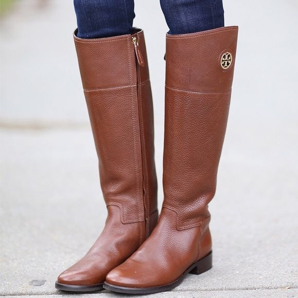 Tory Burch  Junction  Riding Boots Brand new in original box. Almond color.  Authentic. Tory Burch Shoes Winter   Rain Boots bfc374ed7383