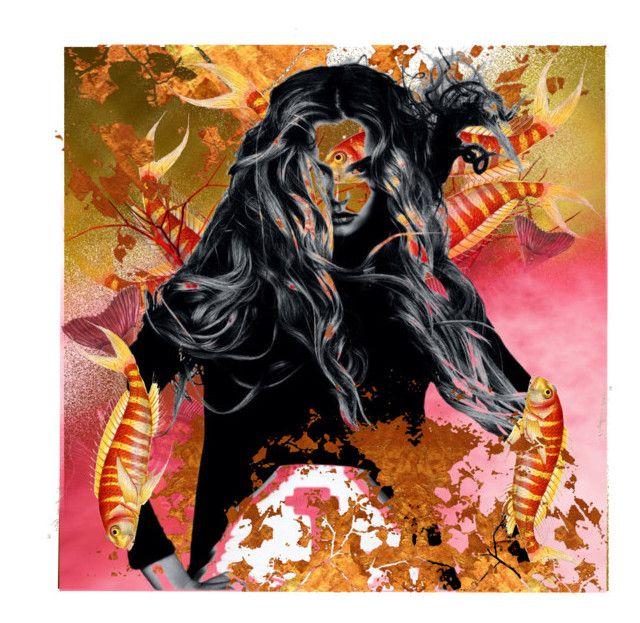 """Mi prendono spesso a pesci in faccia!!!!"" by stefania-federici ❤ liked on Polyvore featuring art"