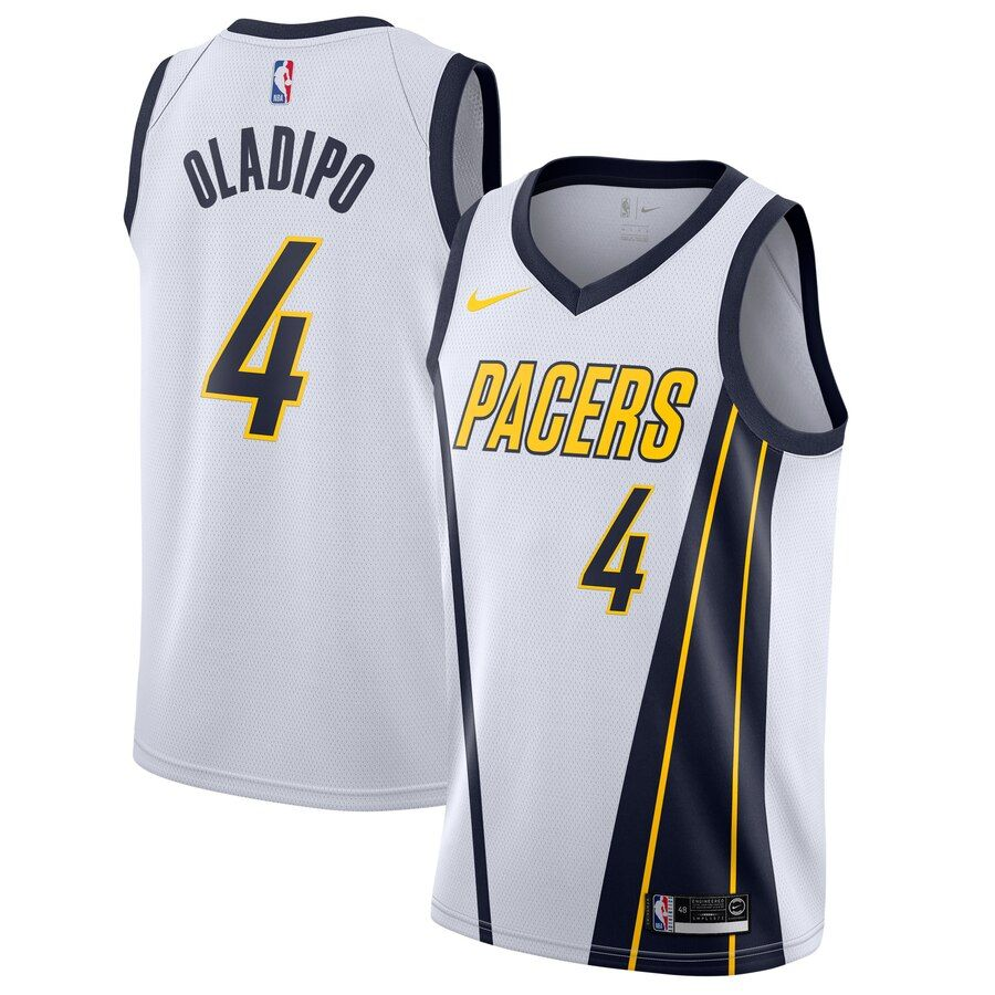 Men S Indiana Pacers Victor Oladipo Nike White 2018 19 Swingman Jersey Earned Edition In 2020 Victor Oladipo Indiana Pacers White Nikes