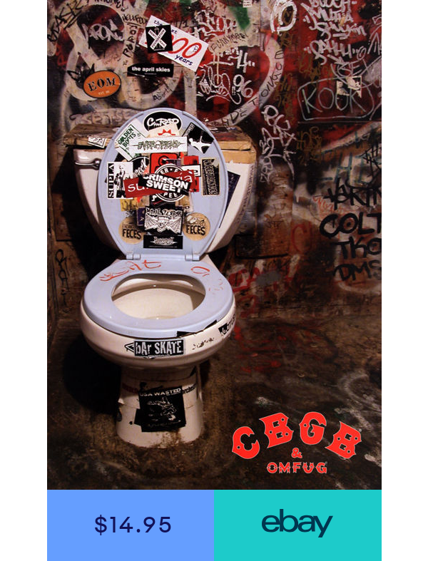 New York City Iconic Punk Rock Music Club /& Venue CBGB Poster