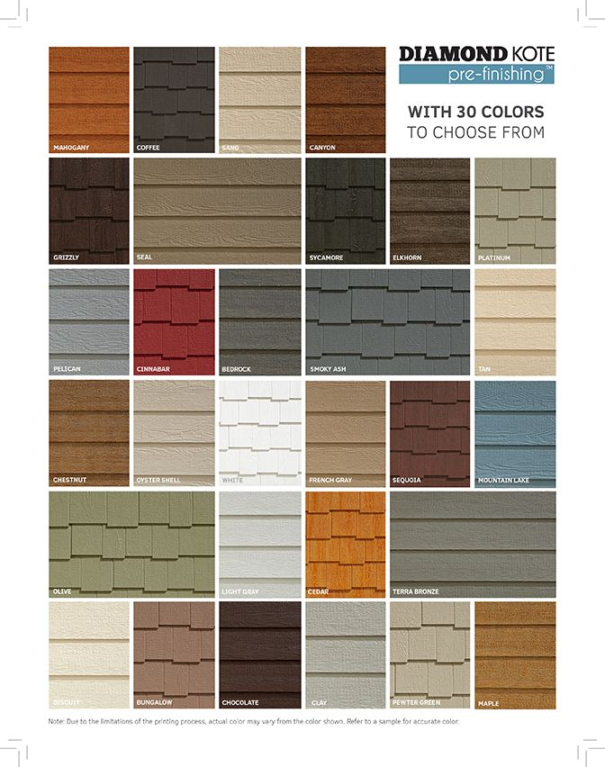 Siding Colours Diamond Kote Prefinished Siding